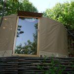 petite yourte de 5M de diamètre 20m² avec une baie vitrée ouvrante coté sud…